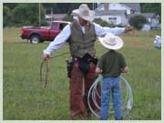 Cowboy Roping at Pisgah View Dude Ranch