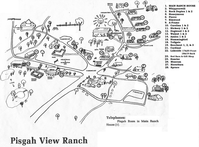 Map of Pisgah View Ranch
